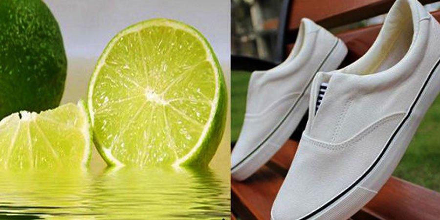 Chanh cũng có tác dụng làm sạch giày trắng