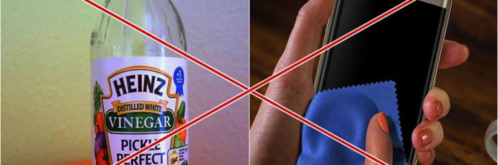 Không nên vệ sinh điện thoại bằng giấm